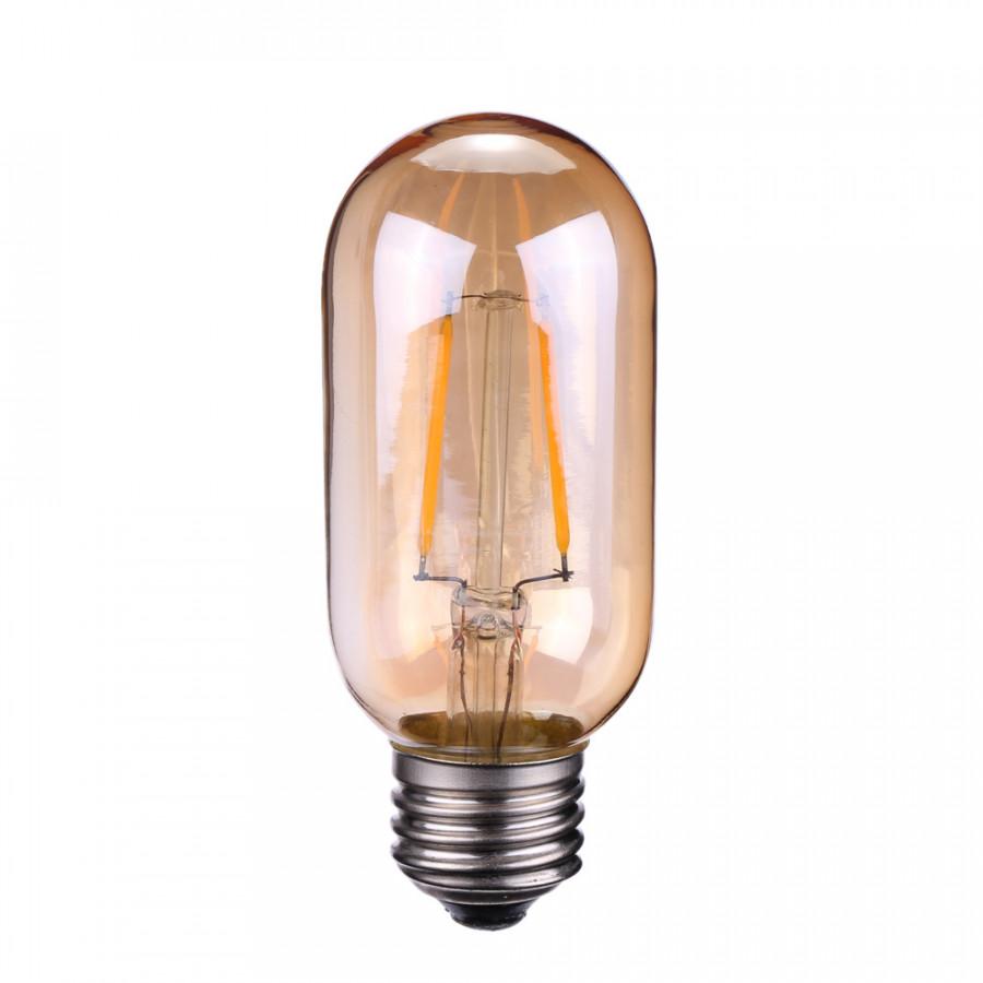 Tomshine 2W T45 LED Filament Bulb Light AC220-240V E27 Base Tawny Vintage Retro Holiday Festival Decorations Warm White