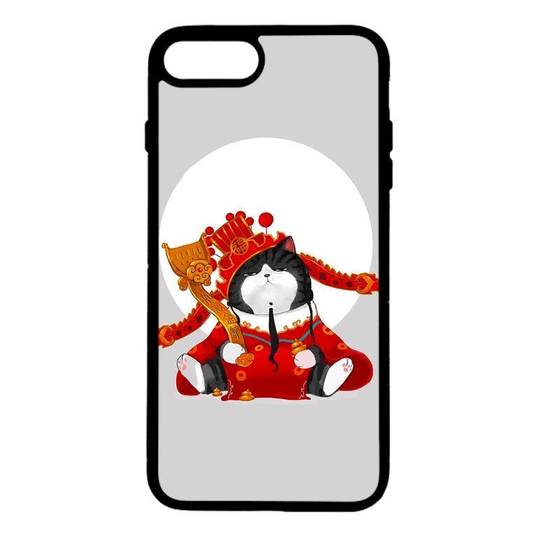 Ốp lưng dành cho điện thoại Iphone 7 Plus Mèo Hoàng Thượng