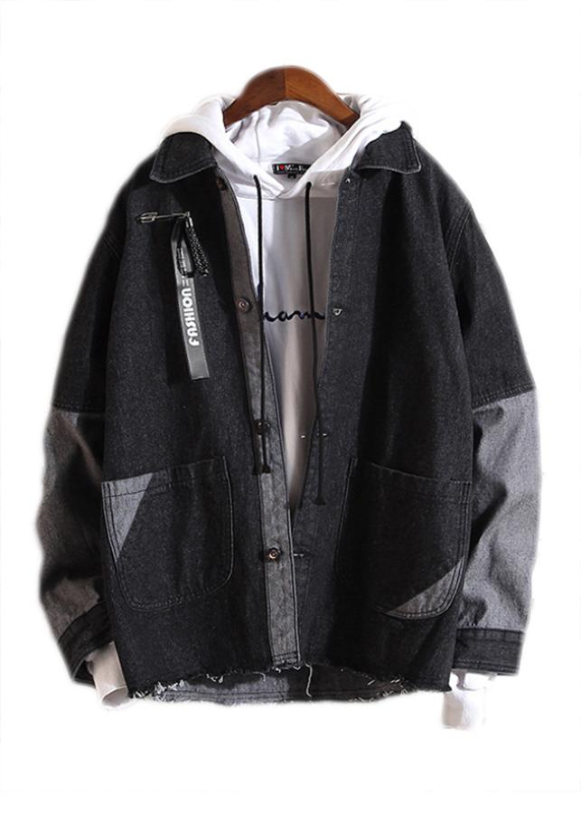 Áo khoác jeans nam form rộng AKJN016