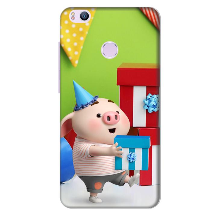 Ốp lưng nhựa cứng nhám dành cho Xiaomi Mi 4s in hình Heo Con Mừng Sinh Nhật