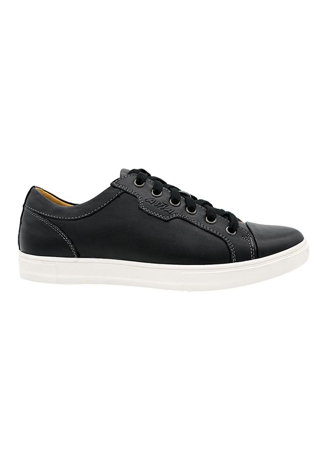 Giày Lười Da Nam Asisa Dây K1658-1 - Đen
