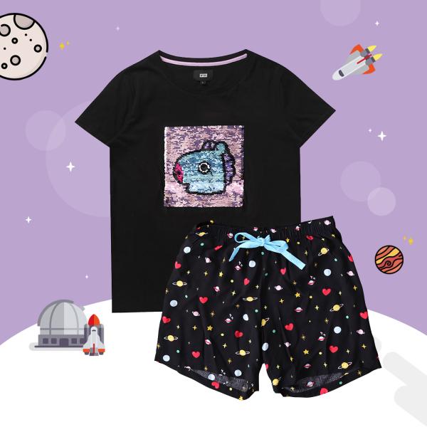 BT21 x HUNT Spangle Pajama Set Mang HILO91101T - 2325310 , 9117970853060 , 62_14994706 , 1563000 , BT21-x-HUNT-Spangle-Pajama-Set-Mang-HILO91101T-62_14994706 , tiki.vn , BT21 x HUNT Spangle Pajama Set Mang HILO91101T