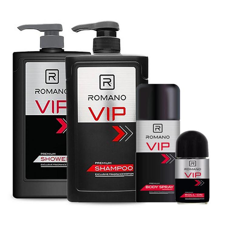 Combo Romano VIP: Dầu gội 650g, Sữa tắm 650g, Xịt khử mùi 150ml - Tặng kèm lăn khử mùi 40ml - 1813319 , 8304030423863 , 62_13310452 , 450000 , Combo-Romano-VIP-Dau-goi-650g-Sua-tam-650g-Xit-khu-mui-150ml-Tang-kem-lan-khu-mui-40ml-62_13310452 , tiki.vn , Combo Romano VIP: Dầu gội 650g, Sữa tắm 650g, Xịt khử mùi 150ml - Tặng kèm lăn khử mùi 40m
