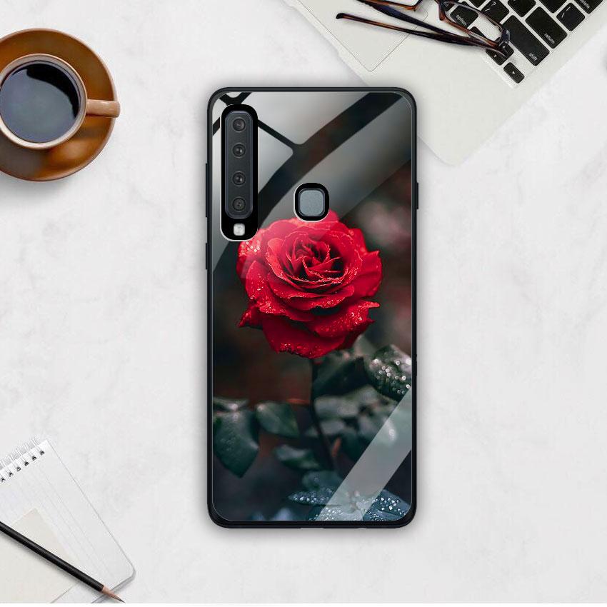 Ốp Lưng Kính Cường Lực cho điện thoại Samsung Galaxy A9 2018 - 0322 ROSE08
