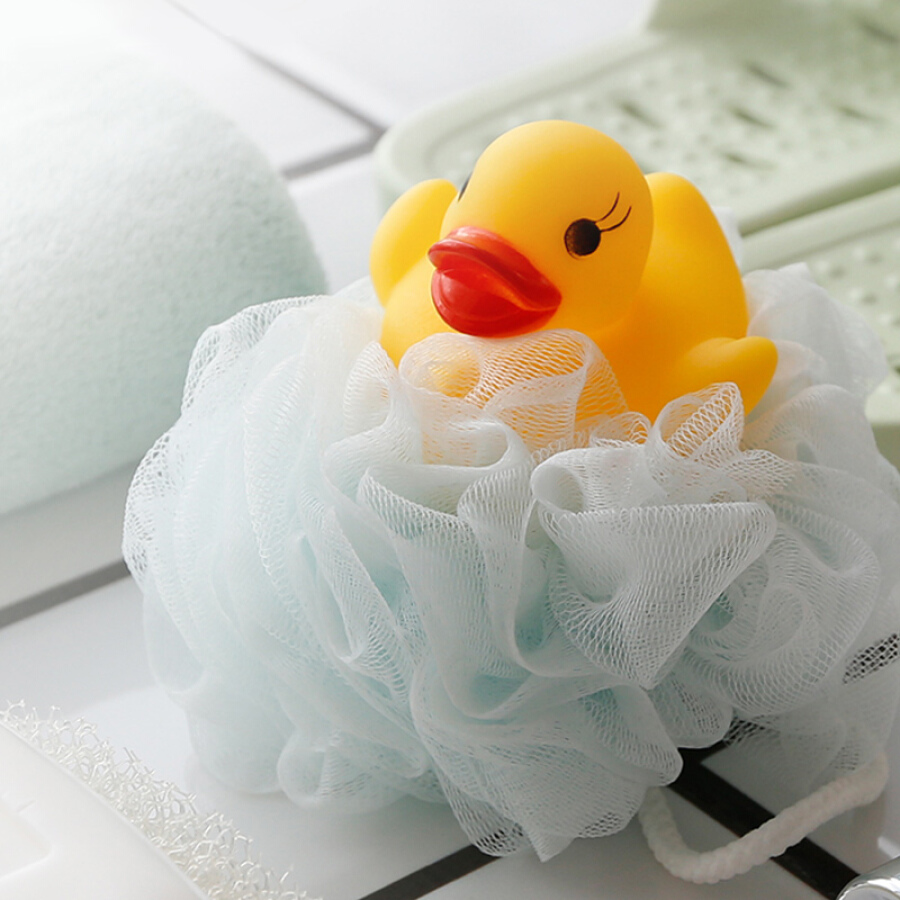 Camellia bath flower bath towel temperature sensitive color children bath ball 30g K05001