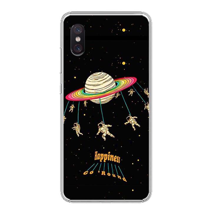 Ốp lưng cho Xiaomi Mi 8 Pro - 0311 SPACE02 - Silicone dẻo - Hàng Chính Hãng