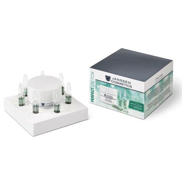 Bộ Sản Phẩm Kem Và Ống Tinh Chất Giải Độc Tố Cho Da Perfect Detox Set (50ml+ 7 ống)