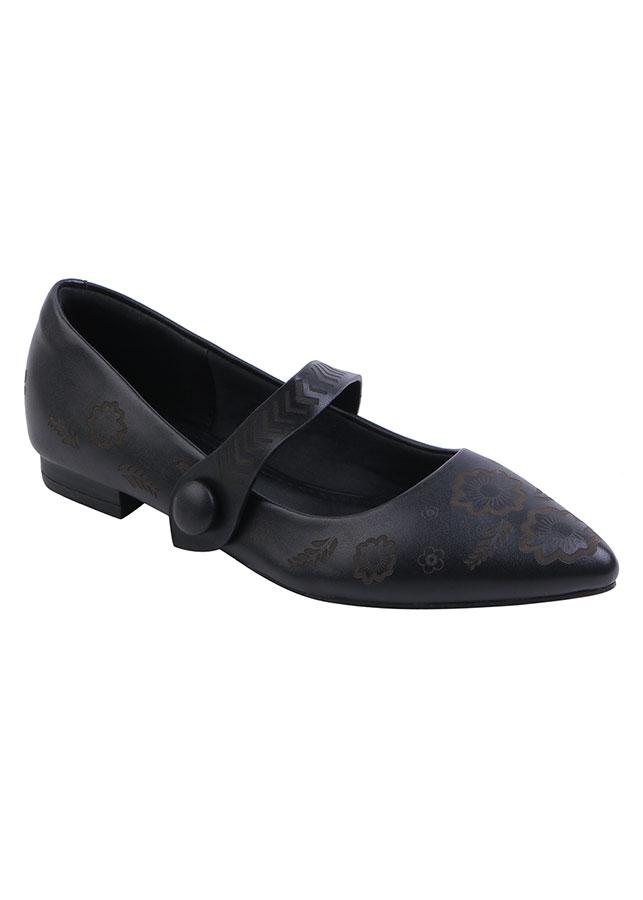 Giày Búp Bê Phối Quai Ngang COCO DIVA SP778 - Đen