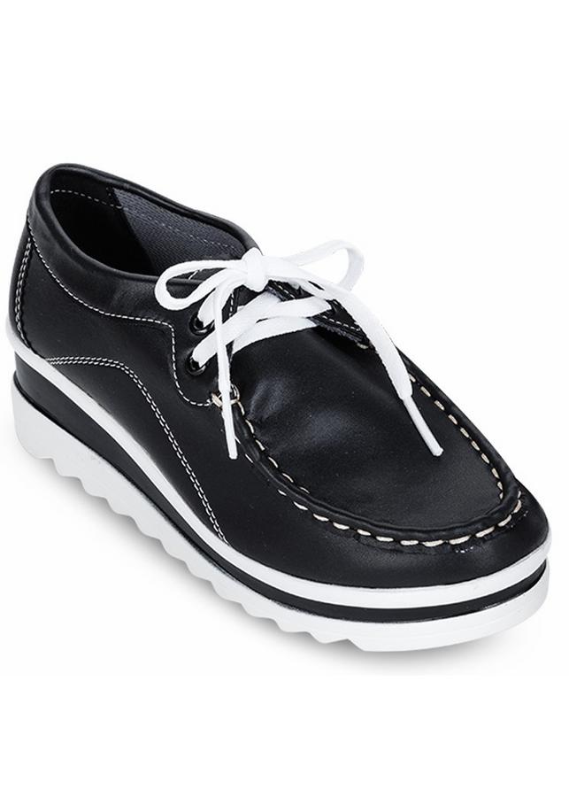 Giày Sneaker Nữ Cột Dây - Đen