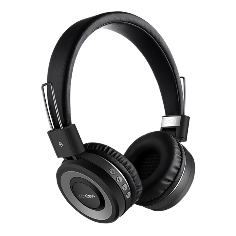 Wireless Bluetooth 4.2 Headphones Stereo Music Earphones On-Ear Headset CVC 6.0 Noise Reduction Support 3.5mm AUX-IN