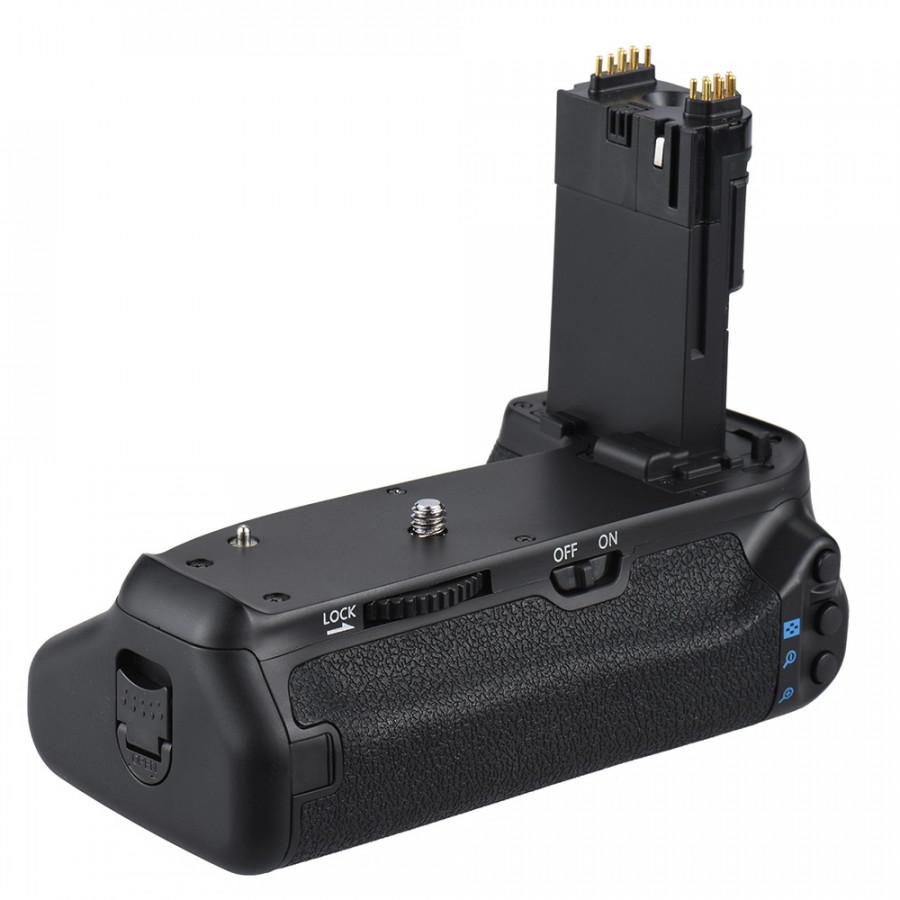 Giá Đỡ Pin Dọc Andoer BG-1T Cho Máy Ảnh DSLR Canon EOS 70D / 80D Tương Thích Với Pin 2 x LP-E6