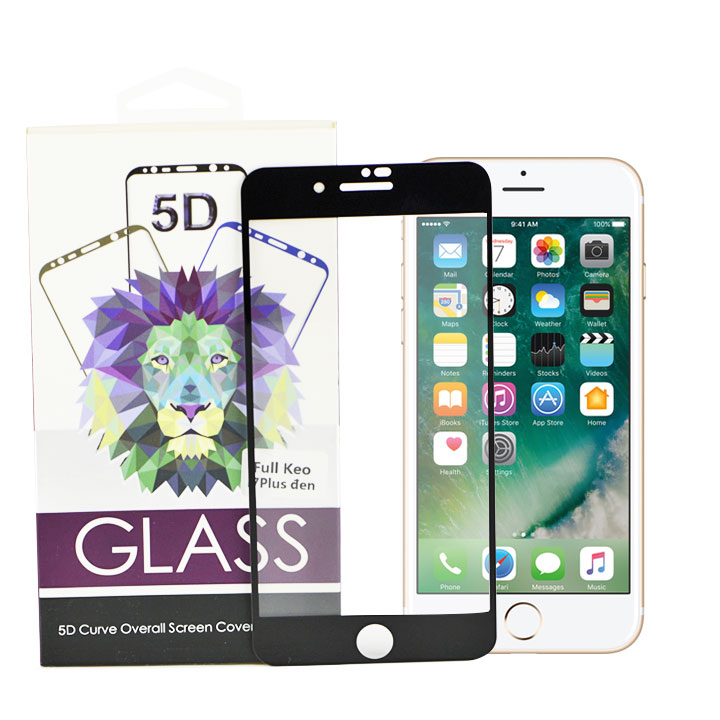 Kính Cường Lực Full Màn Hình 5D Cho iPhone 7 plus/  8 Plus - Đen - 1031816 , 5190216653024 , 62_3042807 , 170000 , Kinh-Cuong-Luc-Full-Man-Hinh-5D-Cho-iPhone-7-plus-8-Plus-Den-62_3042807 , tiki.vn , Kính Cường Lực Full Màn Hình 5D Cho iPhone 7 plus/  8 Plus - Đen