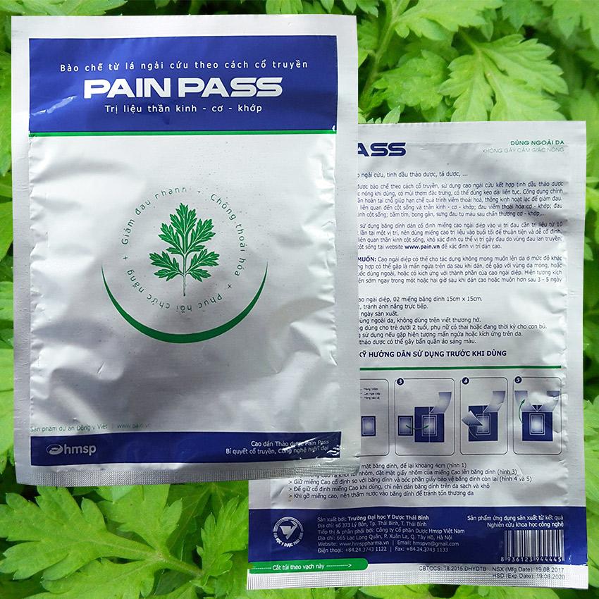 Cao dán ngải diệp giảm  đau Pain Pass