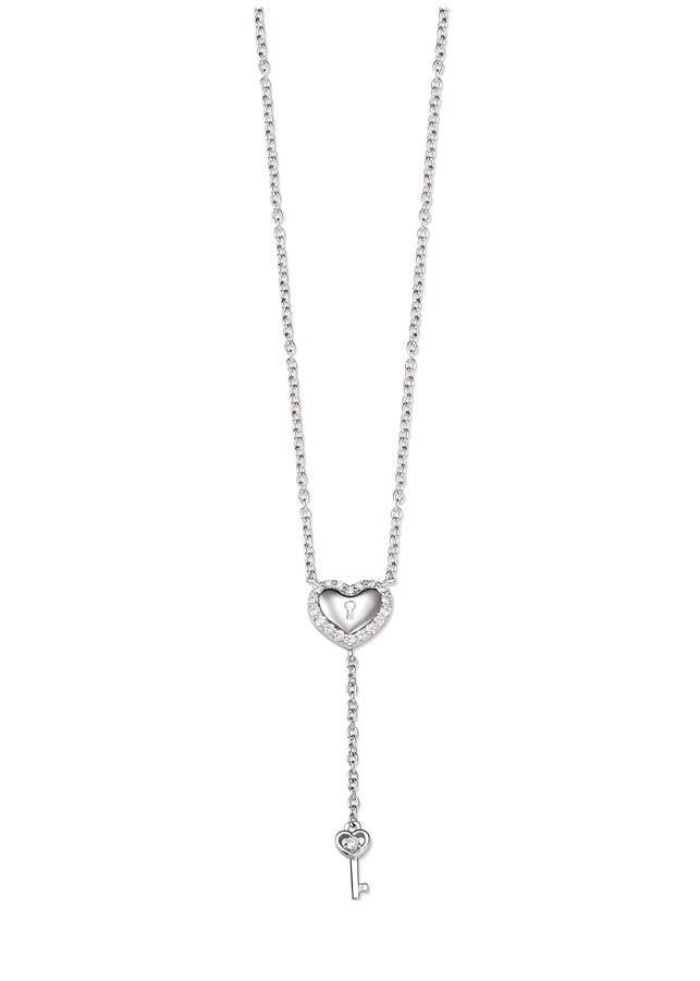 Dây cổ bạc hình trái tim PNJSilver Friendzone Breaker đính đá 14332.100