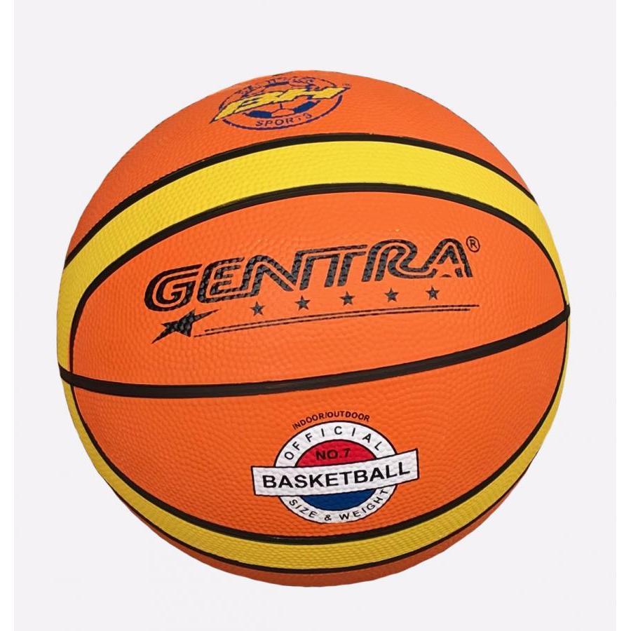 Quả bóng rổ số 7 Gentra (Cam) + Kèm kim bơm bóng