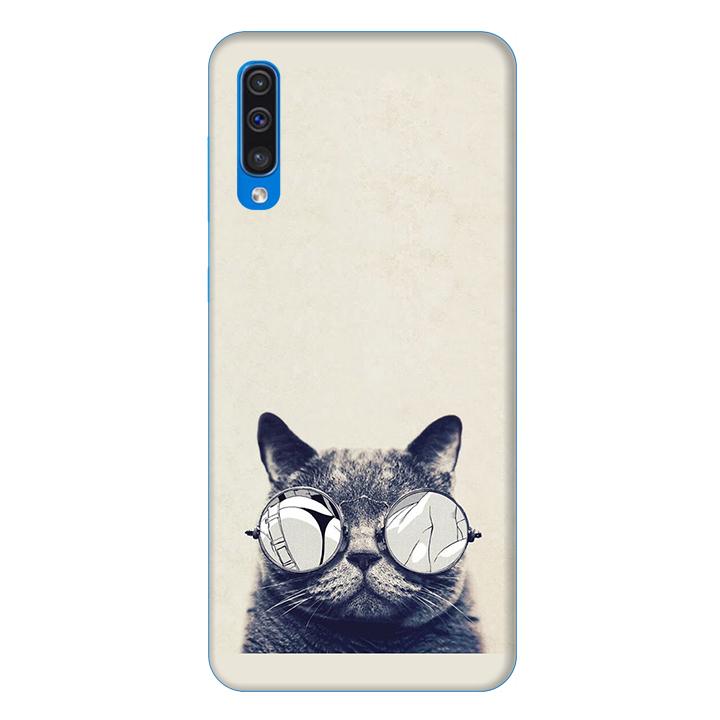 Ốp lưng dành cho điện thoại Samsung Galaxy A50 hình Mèo Con Đeo Kính Mẫu 1 - Hàng chính hãng