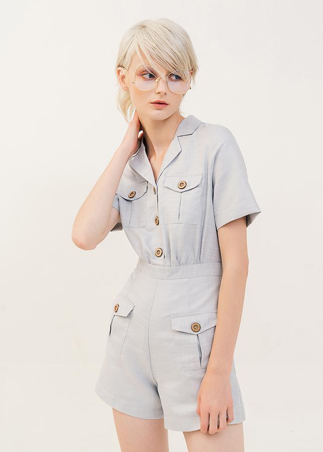 Jumsuit Nữ Short Túi Hộp Đính Nút Marc Fashion PN116418
