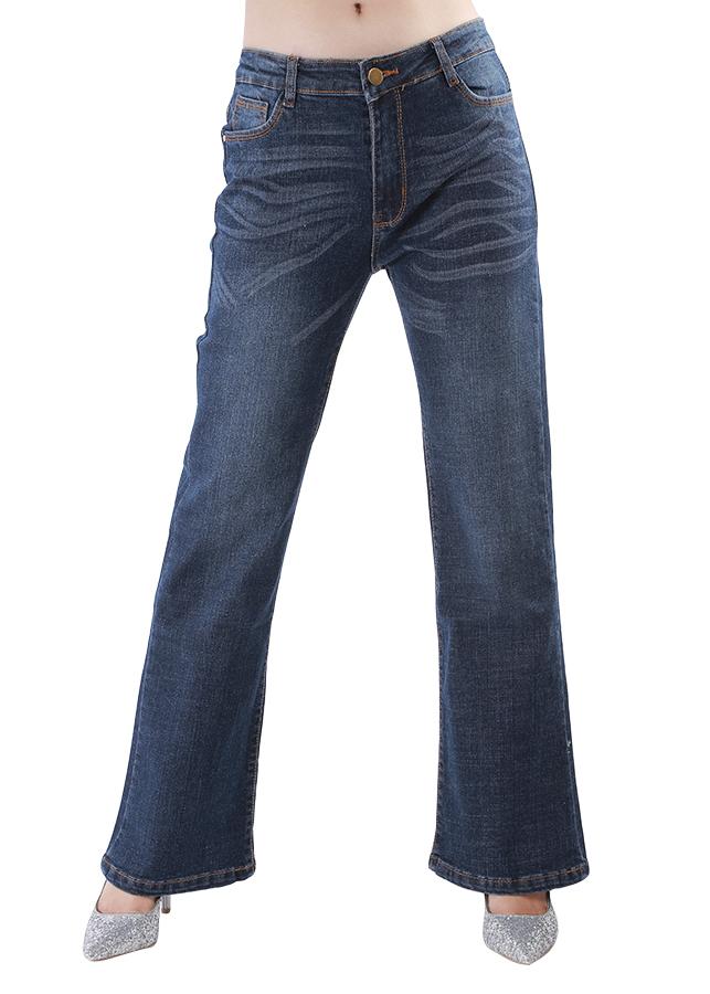 Quần Jeans Nữ Ống Loe Dài JST009 - Màu Đậm