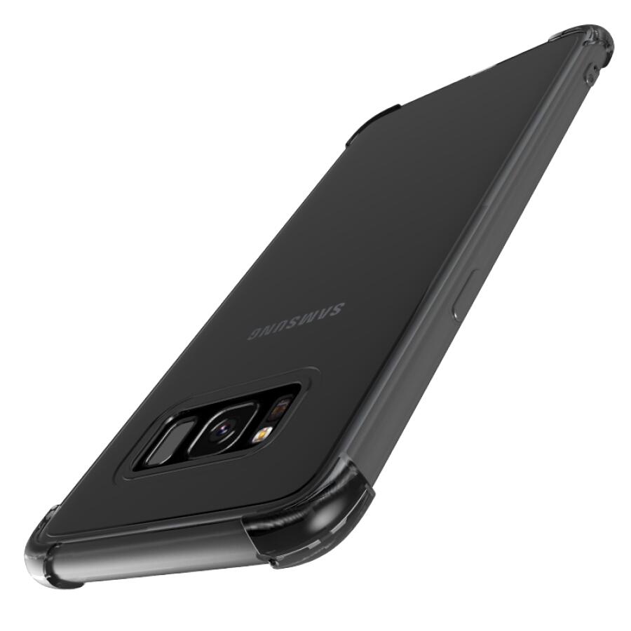 Ốp Lưng Nhựa Chống Sốc 4 Góc Trong Suốt Cho Samsung GALAXY S8 ESCASE - Đen