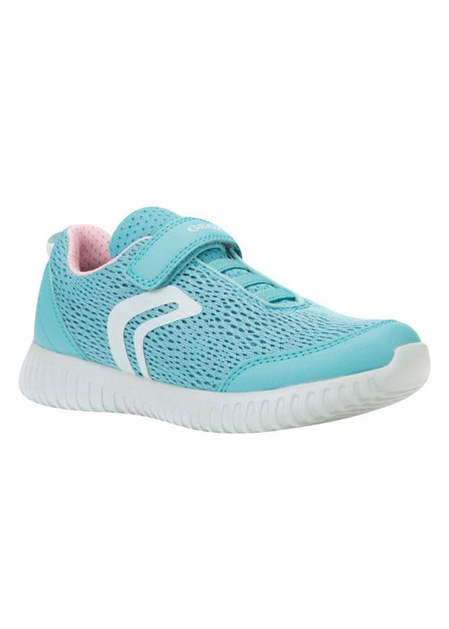 Giày Sneakers Nữ GEOX J WAVINESS G. C MESH+GEOBUCK LAKE - Xanh Dương