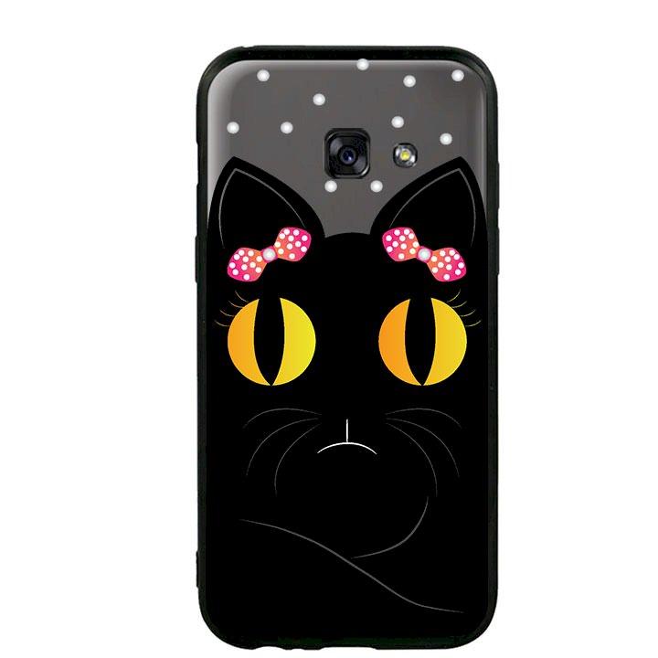 Ốp lưng viền TPU cho Samsung Galaxy A3 2017 - Mèo Mun 02