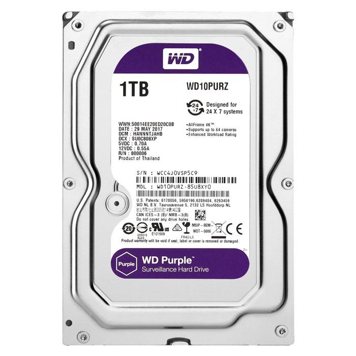 Ổ cứng Camera HDD WD Purple 1TB - Hàng Nhập Khẩu