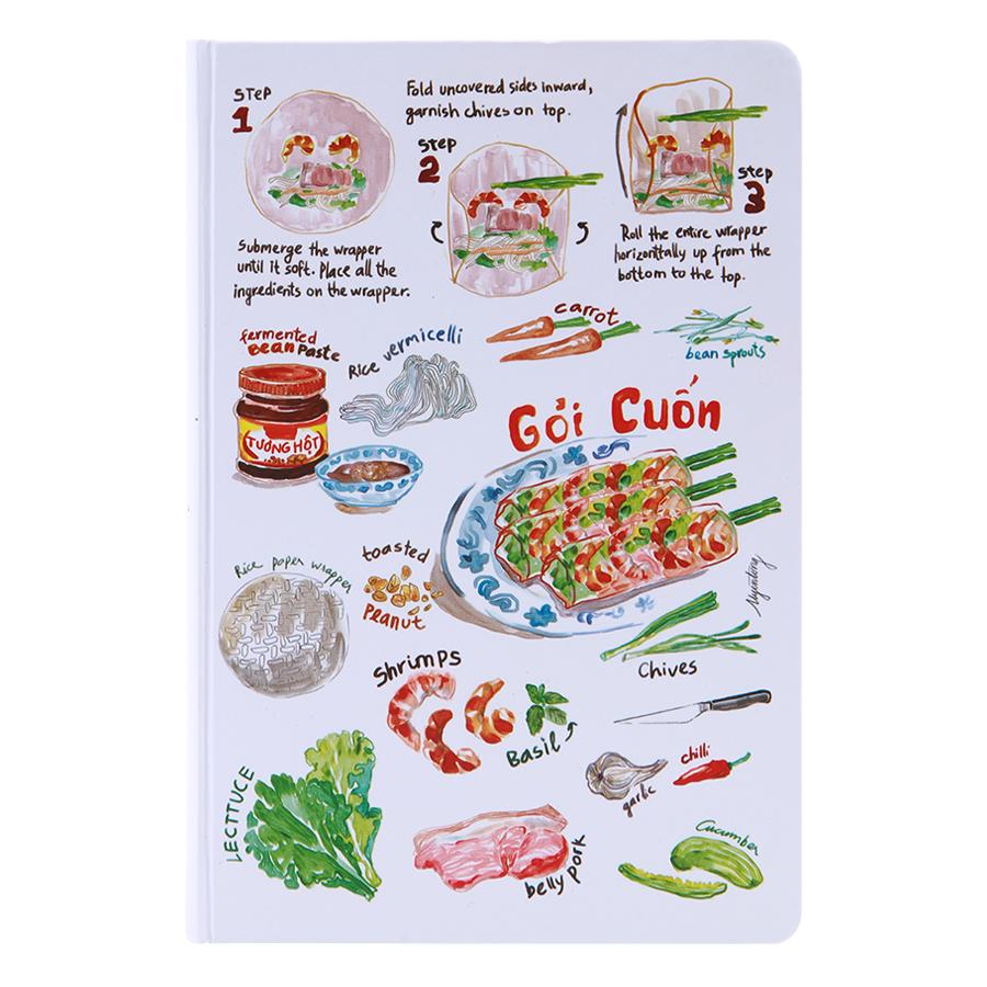 Sổ Tay Tasteful Việt Nam (S) - Gỏi Cuốn (100 Trang)