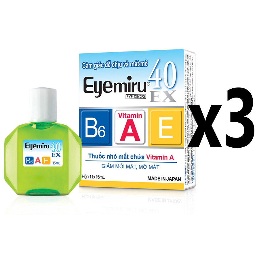 Combo 3 Thuốc Nhỏ Mắt Eyemiru 40Ex (15ml/Lọ)