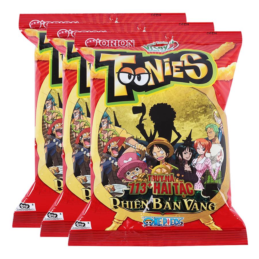 Combo 3 Bánh Snack Toonies Orion Vị Cay (38g/ Gói)
