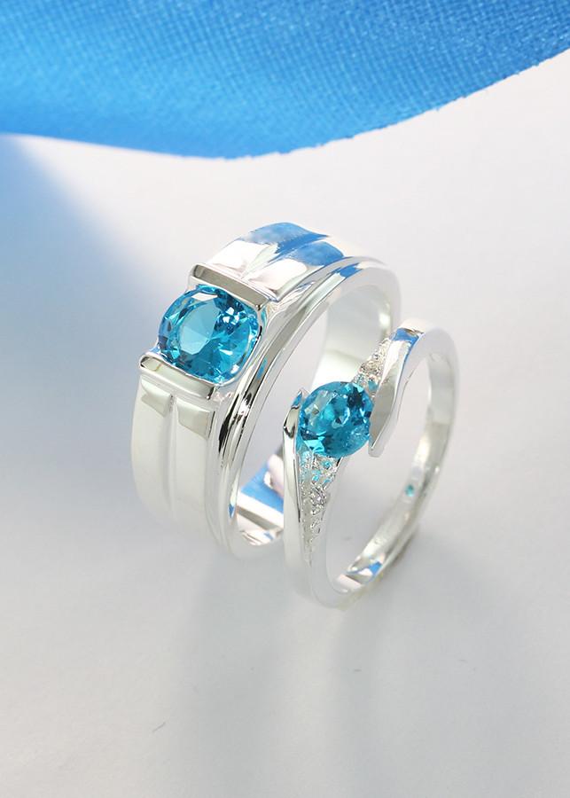 Nhẫn đôi bạc, nhẫn bạc đôi, nhẫn cặp bạc đính đá xanh dương ND0395 - 1970982 , 2627120878272 , 62_15006759 , 570000 , Nhan-doi-bac-nhan-bac-doi-nhan-cap-bac-dinh-da-xanh-duong-ND0395-62_15006759 , tiki.vn , Nhẫn đôi bạc, nhẫn bạc đôi, nhẫn cặp bạc đính đá xanh dương ND0395