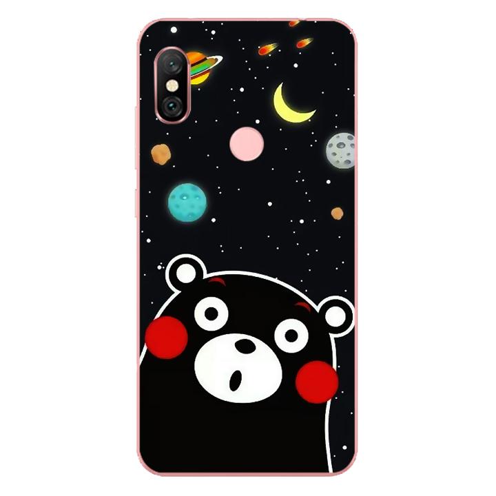 Ốp lưng dẻo cho điện thoại Xiaomi Redmi Note 6 Pro_0345 BEAR03 - Hàng Chính Hãng