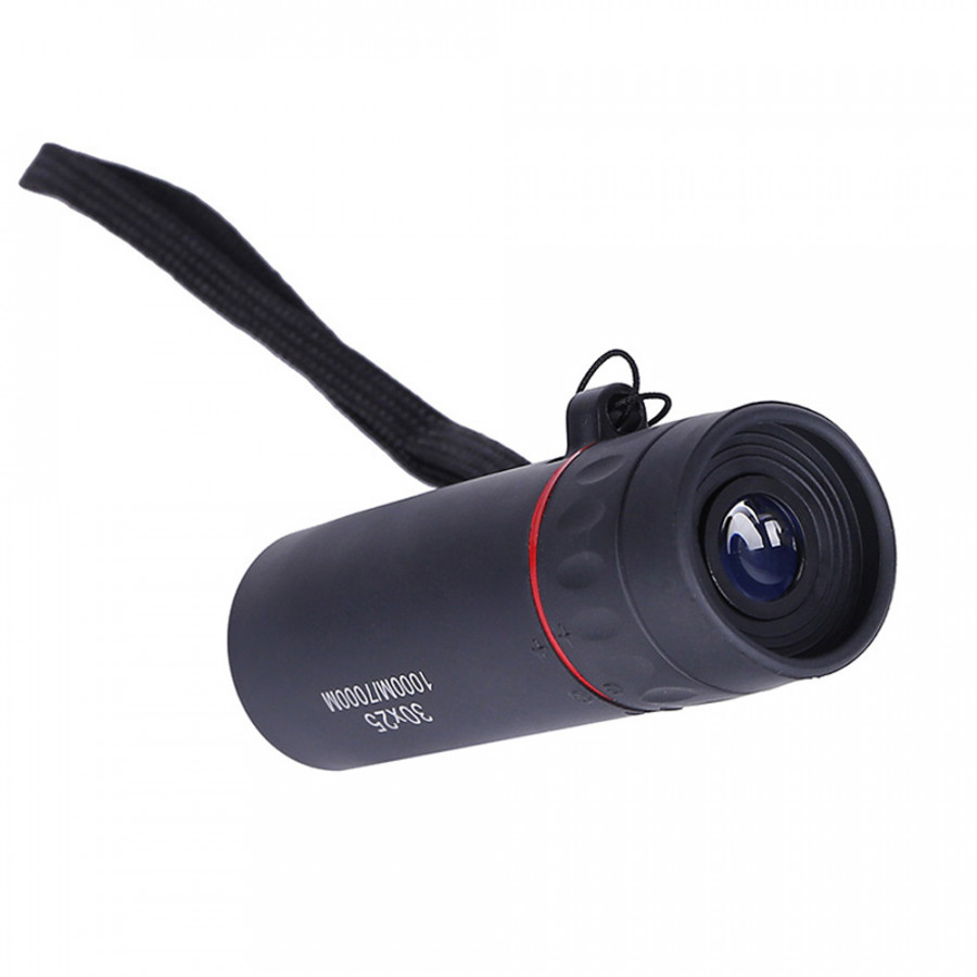 30x25 HD Optical Monocular Low Not Support Night Vision Waterproof Mini Portable Focus Telescope Zoomable 10X Scope for