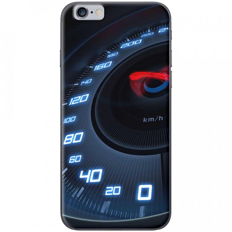 Ốp lưng dành cho iPhone 6 Plus, iPhone 6S Plus mẫu Đồng hồ tốc độ xanh
