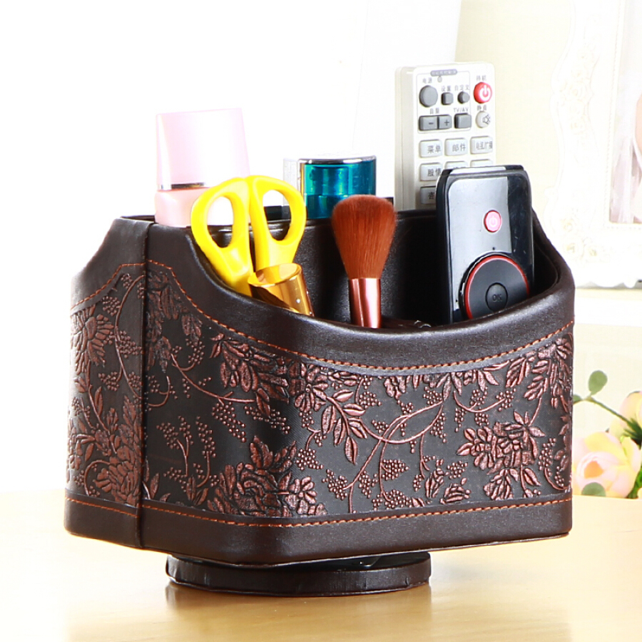 Yapi Shi leather rotating remote control storage box simple home tablet mobile phone storage box living room coffee table desktop pen holder... - 1476682 , 2227526385765 , 62_10513061 , 362000 , Yapi-Shi-leather-rotating-remote-control-storage-box-simple-home-tablet-mobile-phone-storage-box-living-room-coffee-table-desktop-pen-holder...-62_10513061 , tiki.vn , Yapi Shi leather rotating remote