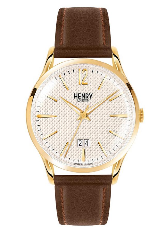 Đồng Hồ Nam Dây Da Bò Henry London HL41-JS-0016 Westminster (41mm) - Nâu + Dịch Vụ Khắc Tên
