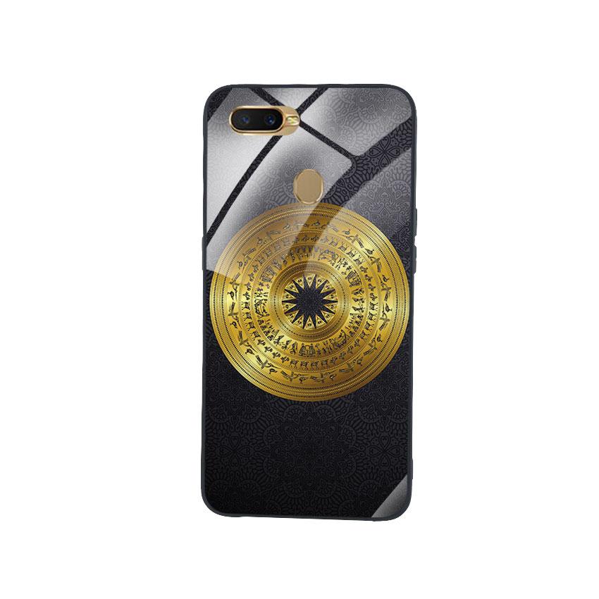 Ốp Lưng Kính Cường Lực cho điện thoại Oppo A7 - Trống Đồng 05