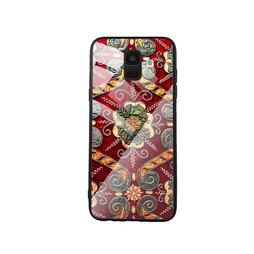 Ốp Lưng Kính Cường Lực cho điện thoại Samsung Galaxy A6 - DHCL Mẫu 4