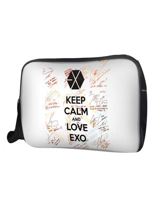 Túi Đeo Chéo Hộp Unisex Keep Calm And Love Exo - TCKK054