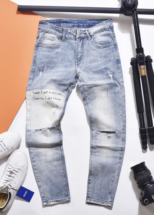 Quần jeans nam rách gối xanh nhạt skinny chất jean thun co giãn mẫu mới 2019 - 8114710 , 8839585425760 , 62_16308972 , 590000 , Quan-jeans-nam-rach-goi-xanh-nhat-skinny-chat-jean-thun-co-gian-mau-moi-2019-62_16308972 , tiki.vn , Quần jeans nam rách gối xanh nhạt skinny chất jean thun co giãn mẫu mới 2019