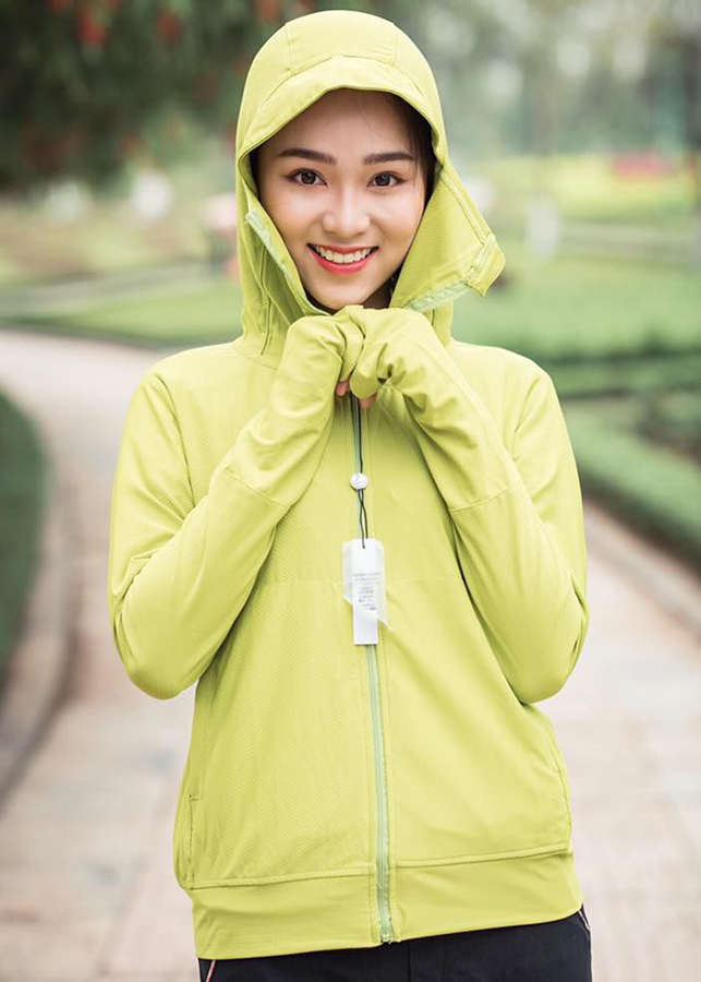 Áo chống nắng che mặt trơn màu thời trang