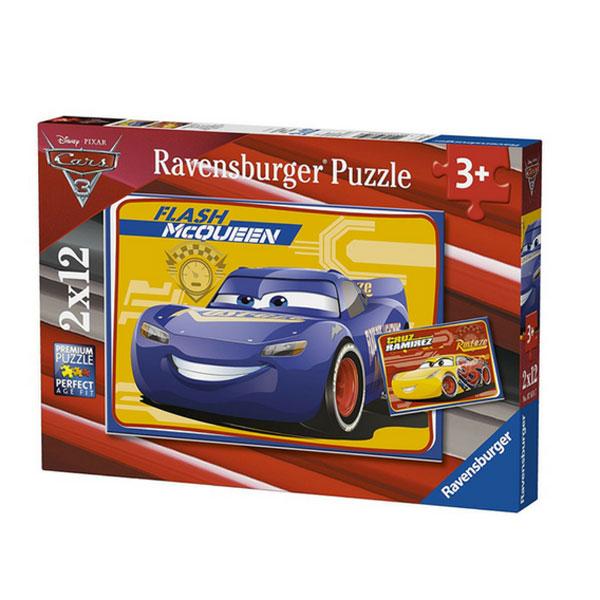 Xếp Hình Puzzle Chủ Đề Vương Quốc Xe Hơi 3 Ravensburger RV07614 7 (2 Bộ 12 Mảnh)