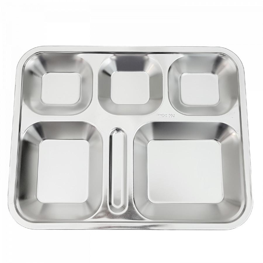 Khay cơm phần 5 ngăn INOX 304