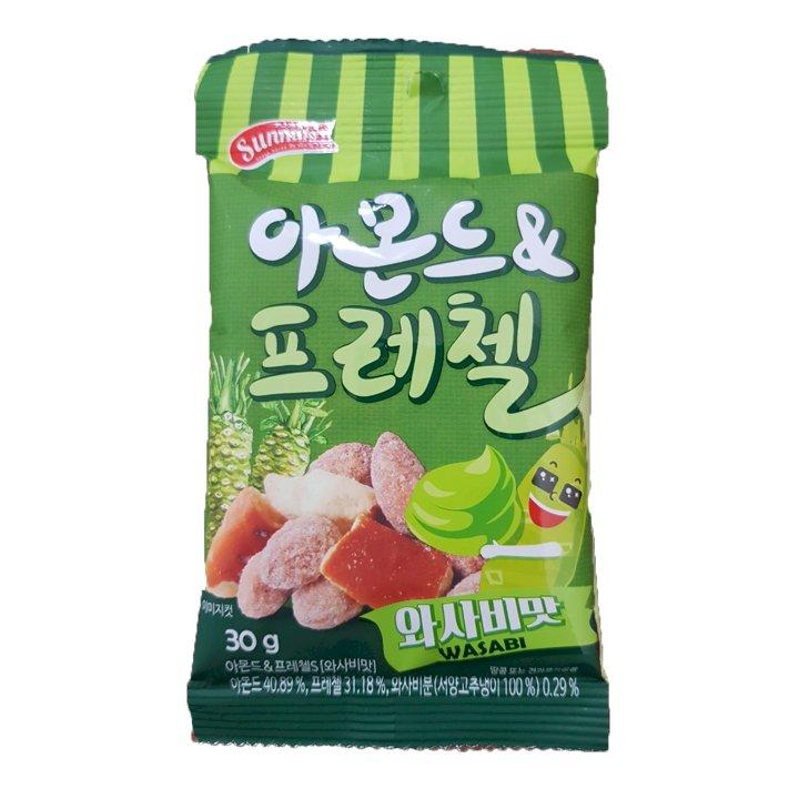 Hạnh Nhân Kèm Bánh Quy Vị Wasabi Sunnuts 30g Wasabi Almond  Pretzel Nhập Khẩu Hàn Quốc