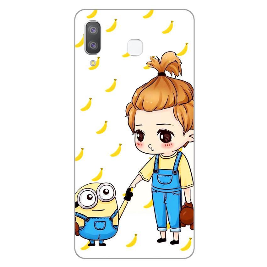 Ốp lưng dẻo cho Samsung Galaxy A8 Star_Minion 04