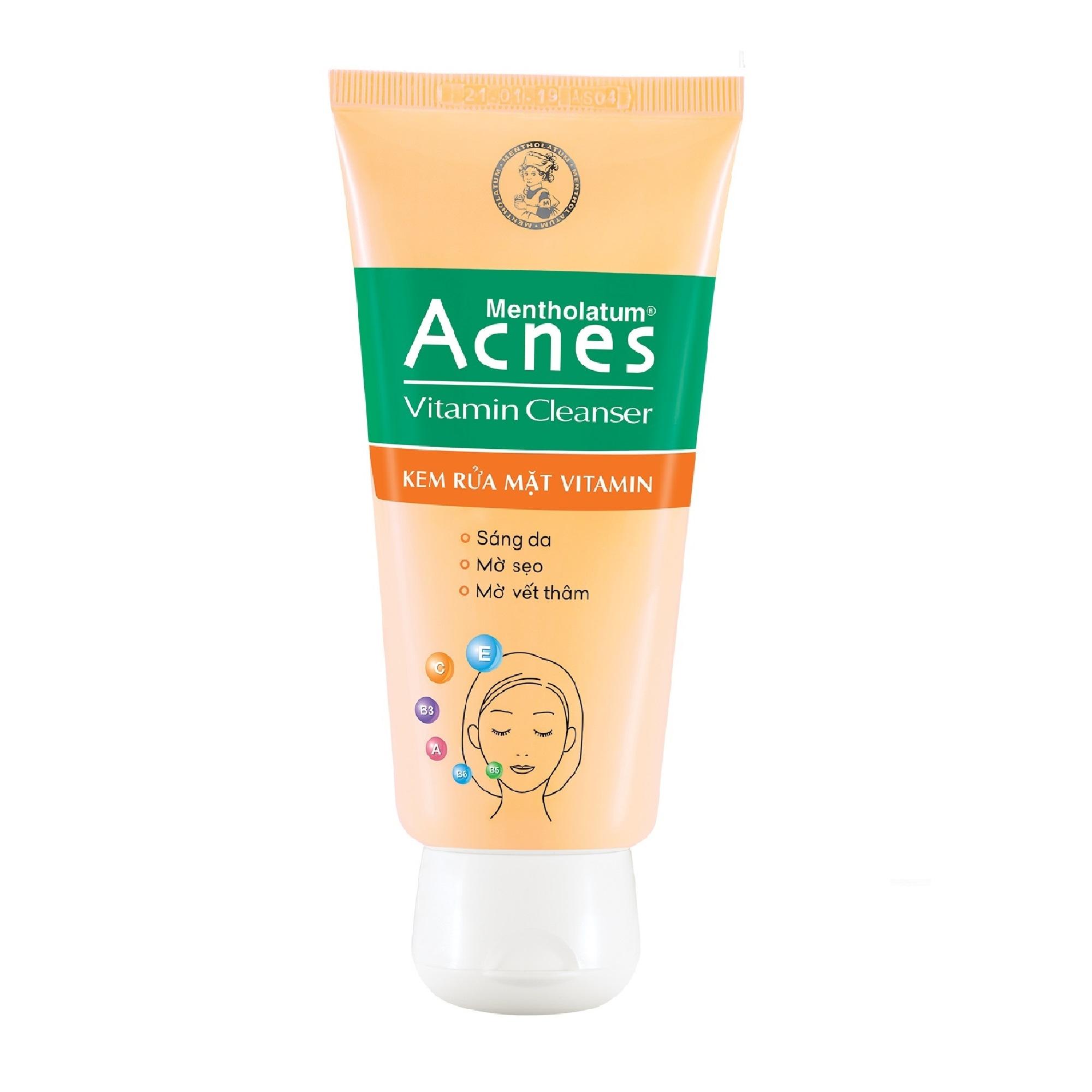 Kem rửa mặt Vitamin Acnes Vitamin Cleanser 100g - 1353433 , 2983274976203 , 62_10863053 , 59000 , Kem-rua-mat-Vitamin-Acnes-Vitamin-Cleanser-100g-62_10863053 , tiki.vn , Kem rửa mặt Vitamin Acnes Vitamin Cleanser 100g