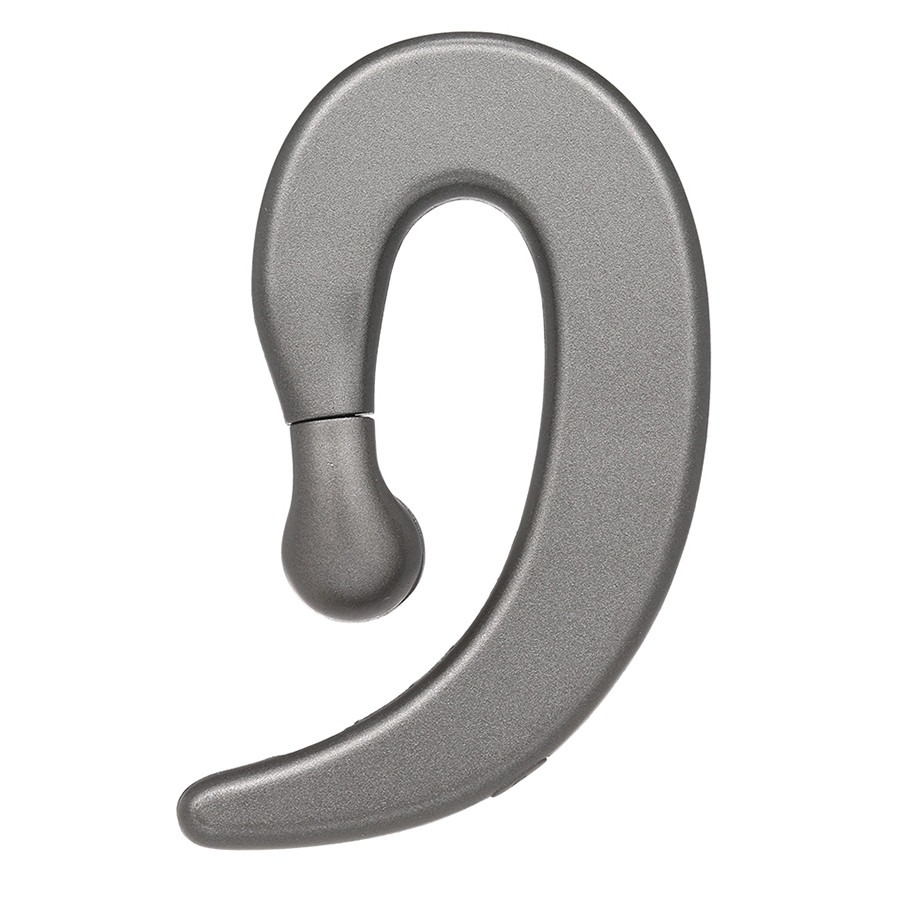 LS-007 Wireless Bluetooth Headphones with Mic Ear Hook Design Music Headset Single-ear Earbud - Black