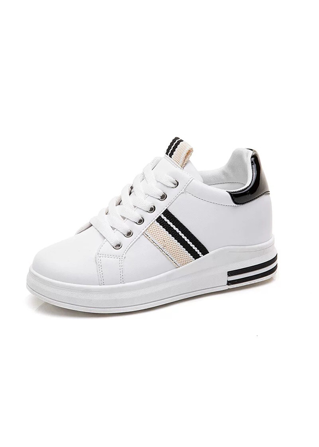 Giày Sneakers Nữ Độn Đế Đẹp Sọc Chéo Hông, Gót Da Bóng HAPU - 1641441 , 7009166057692 , 62_9147155 , 250000 , Giay-Sneakers-Nu-Don-De-Dep-Soc-Cheo-Hong-Got-Da-Bong-HAPU-62_9147155 , tiki.vn , Giày Sneakers Nữ Độn Đế Đẹp Sọc Chéo Hông, Gót Da Bóng HAPU