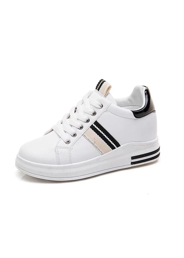 Giày Sneakers Nữ Độn Đế Đẹp Sọc Chéo Hông, Gót Da Bóng HAPU - 1641442 , 8389928914661 , 62_9147157 , 250000 , Giay-Sneakers-Nu-Don-De-Dep-Soc-Cheo-Hong-Got-Da-Bong-HAPU-62_9147157 , tiki.vn , Giày Sneakers Nữ Độn Đế Đẹp Sọc Chéo Hông, Gót Da Bóng HAPU