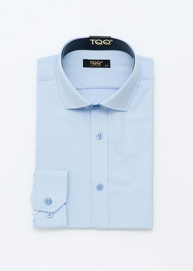 Áo Sơ Mi Nam TQQ Cotton Cao Cấp M001CS Xanh dương