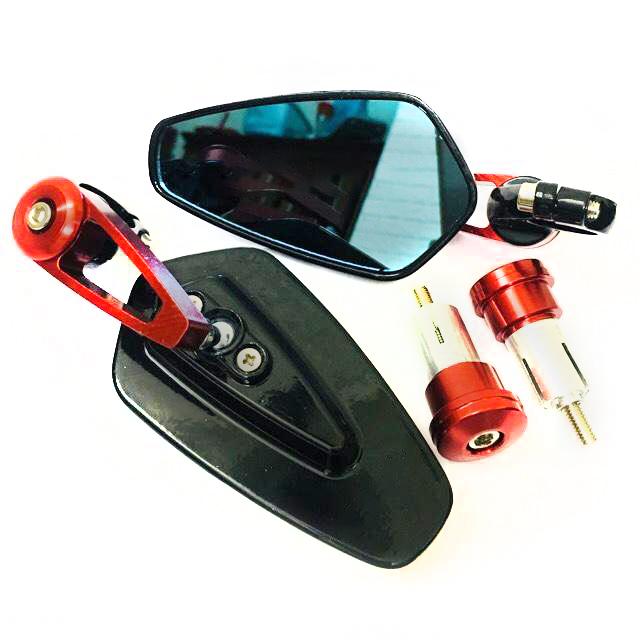 Gương gù gắn tay lái lắp mọi loại xe ( 1 cặp / Kèm lục lăng )